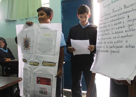 Alumnos de la institución ubicada en San Antonio de los Altos participan en los Juegos Intercurso en La Morita.