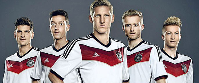 Nuevo uniforme Alemania 2014 Mundial. Foto: dfb.de